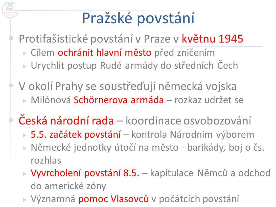 Pražské povstání Protifašistické povstání v Praze v květnu 1945