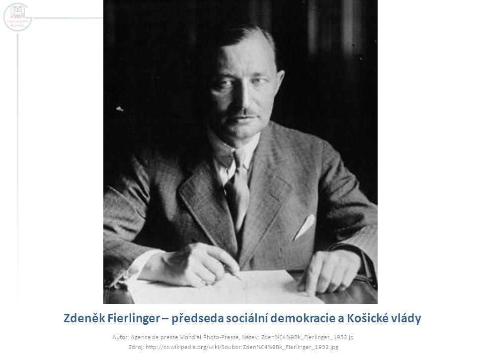Zdeněk Fierlinger – předseda sociální demokracie a Košické vlády