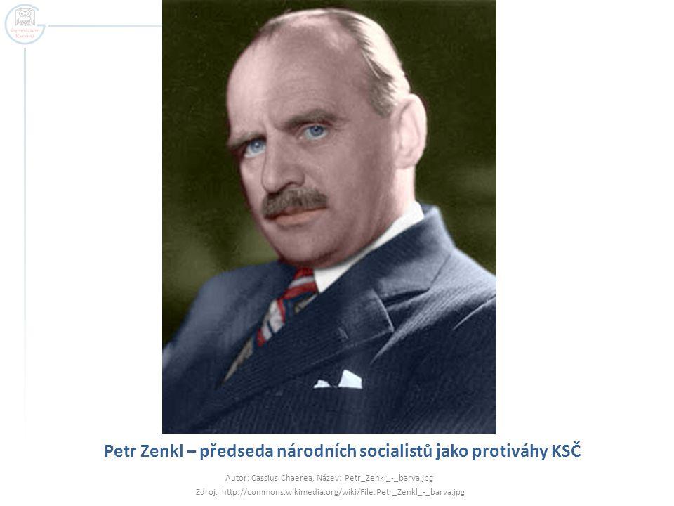 Petr Zenkl – předseda národních socialistů jako protiváhy KSČ