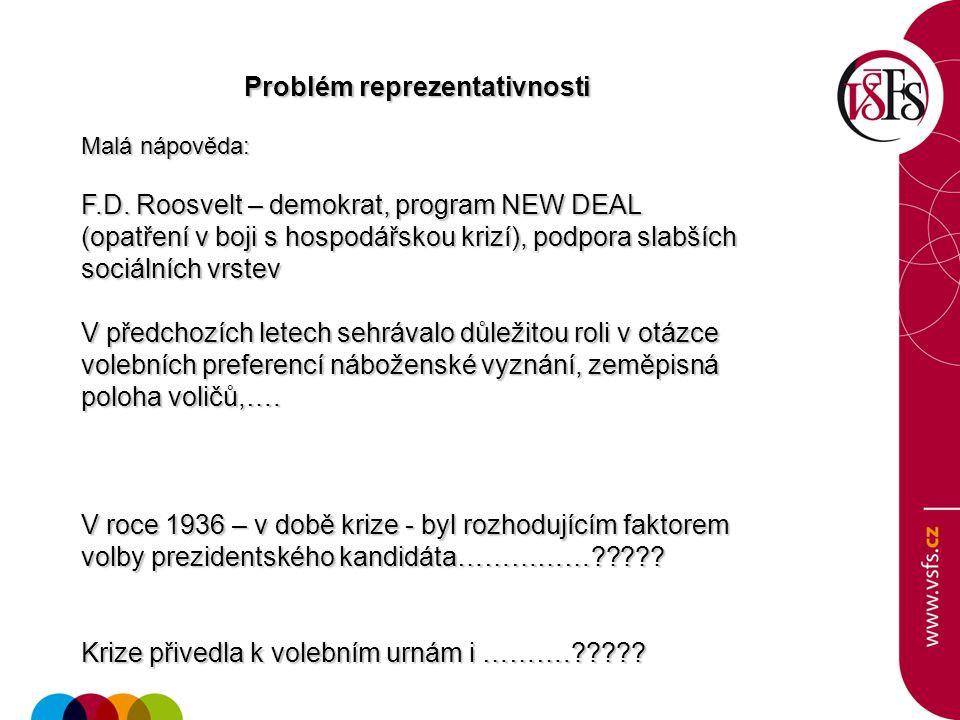 Problém reprezentativnosti