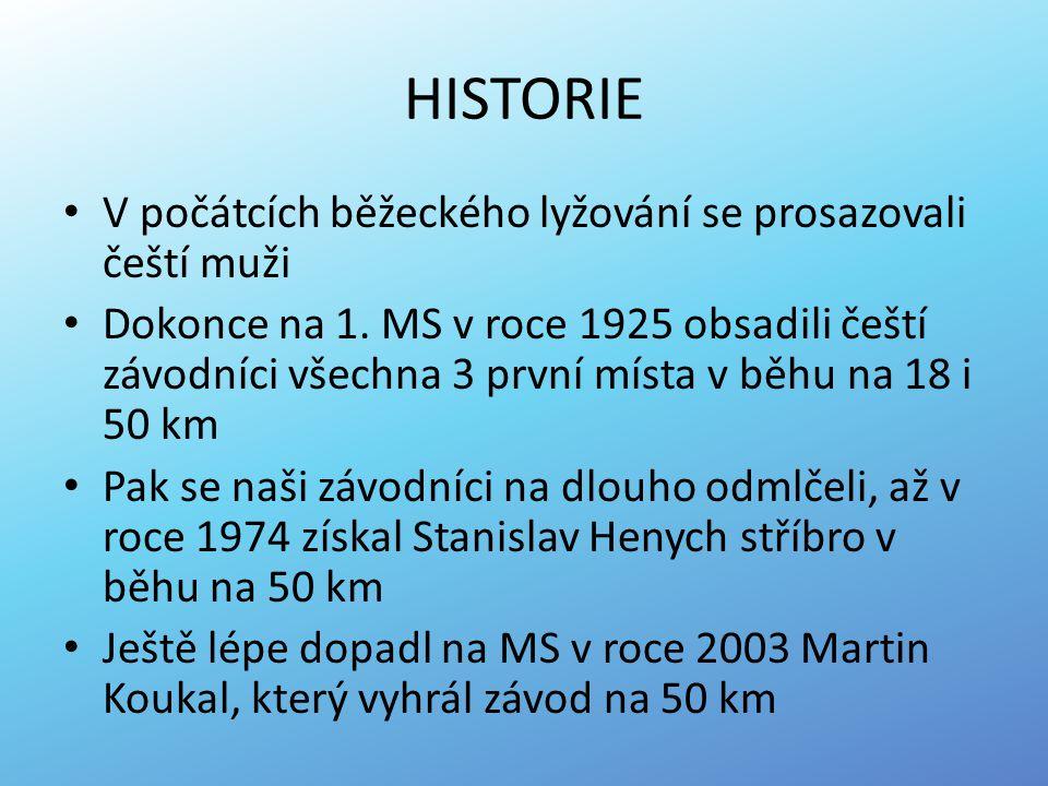 HISTORIE V počátcích běžeckého lyžování se prosazovali čeští muži