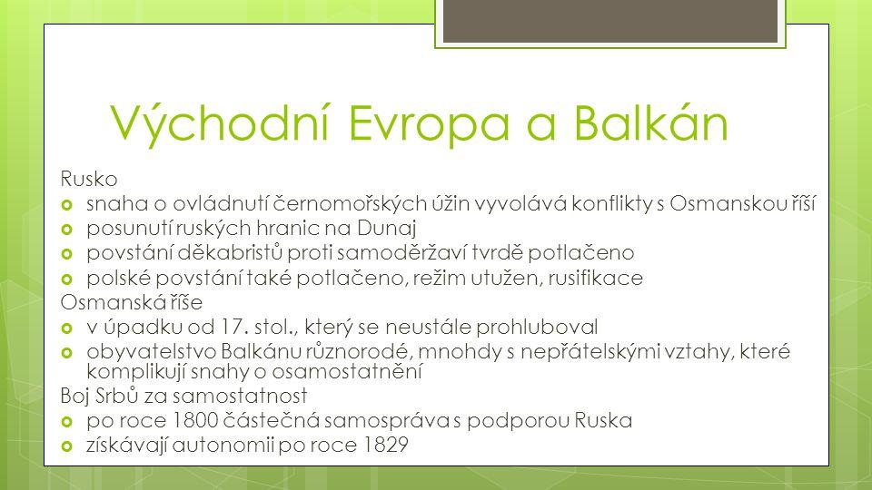 Východní Evropa a Balkán