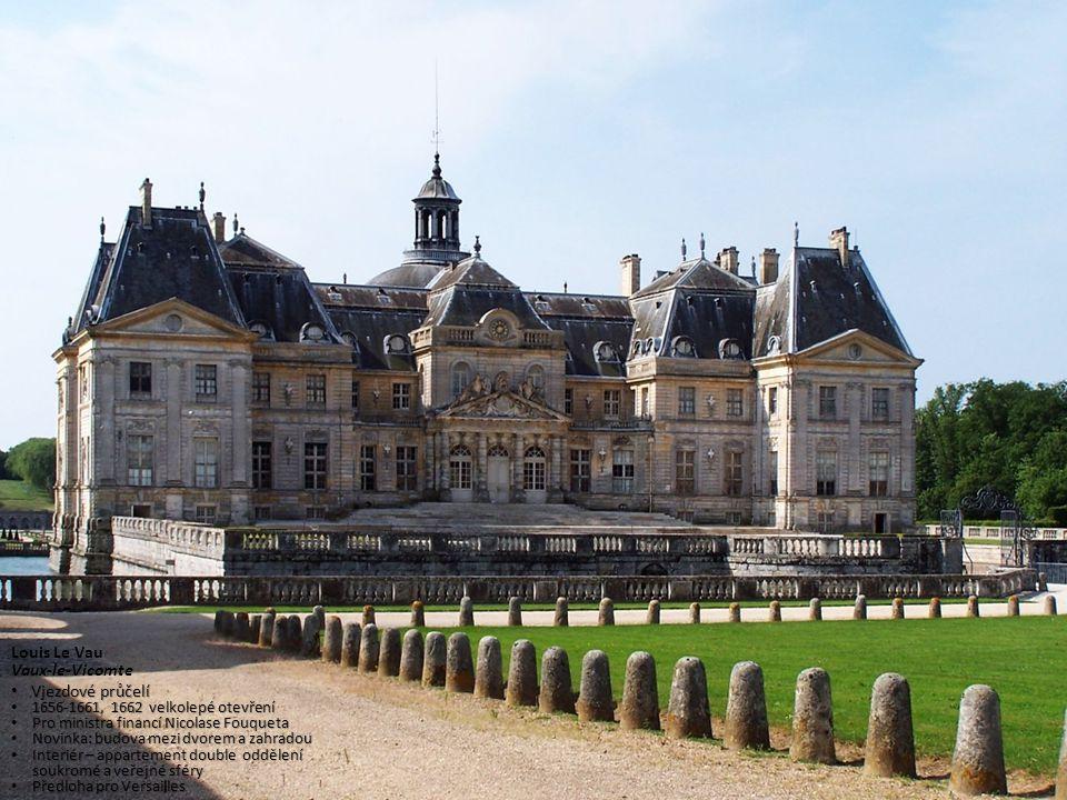 Louis Le Vau Vaux-le-Vicomte Vjezdové průčelí