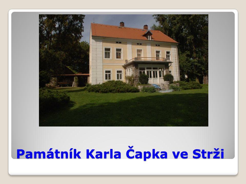 Památník Karla Čapka ve Strži