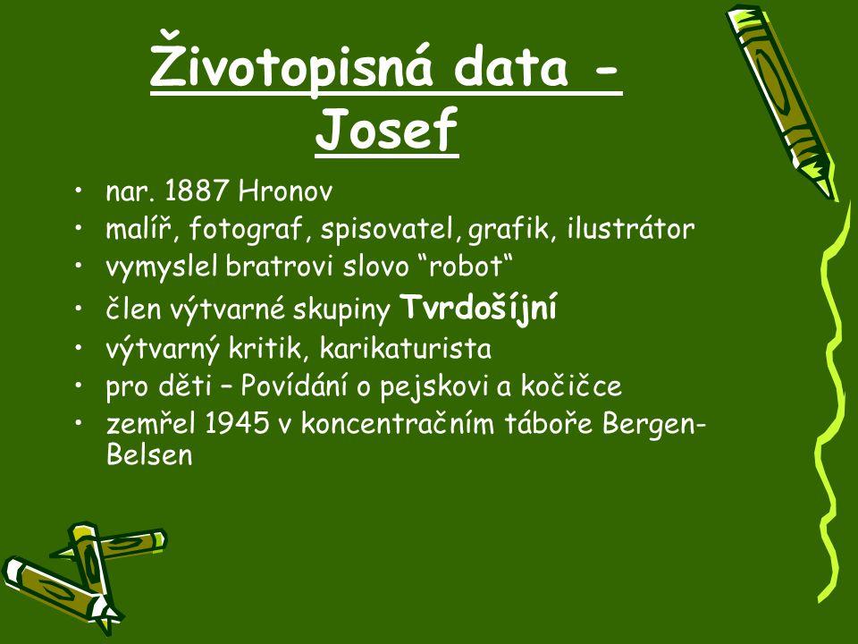 Životopisná data - Josef