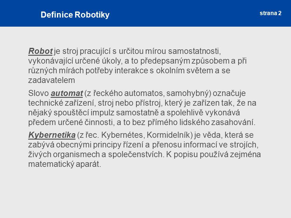 Definice Robotiky strana 2.