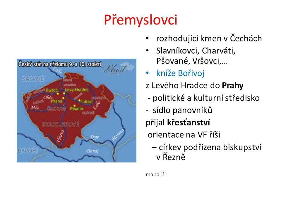 Přemyslovci rozhodující kmen v Čechách