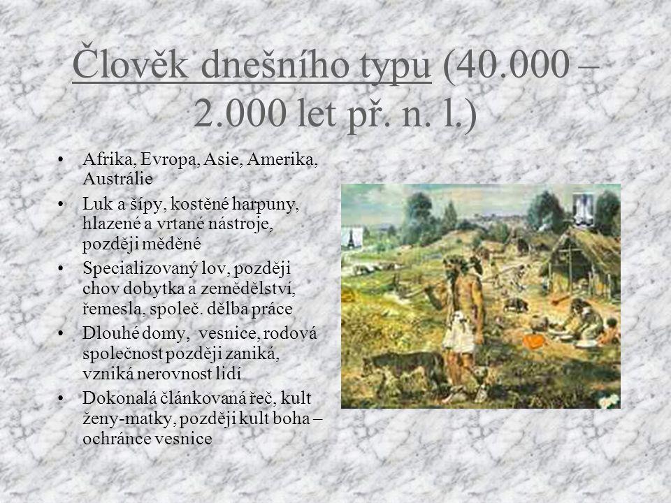 Člověk dnešního typu (40.000 – 2.000 let př. n. l.)