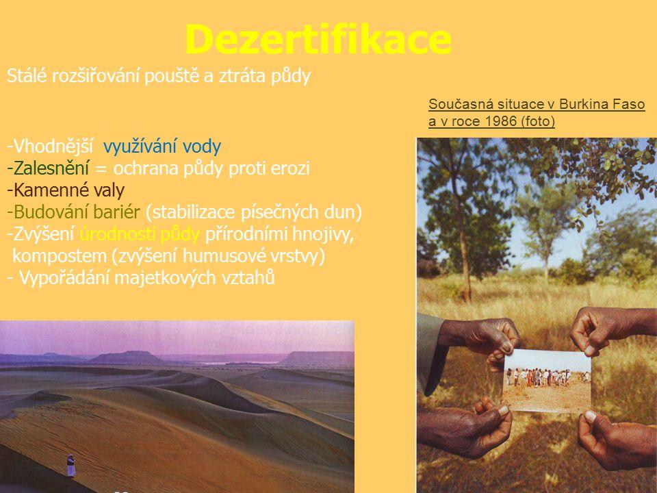 Dezertifikace Proti dezertifikační kroky: