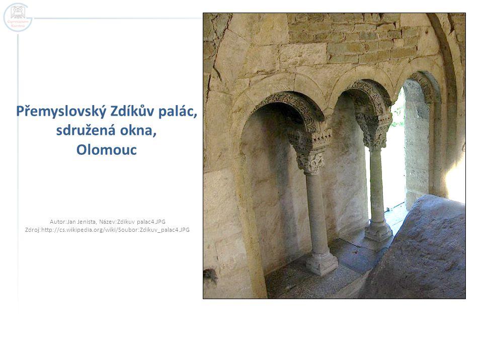 Přemyslovský Zdíkův palác, sdružená okna, Olomouc