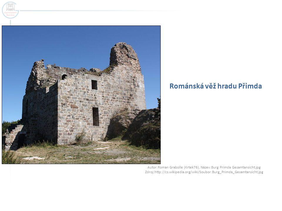 Románská věž hradu Přimda