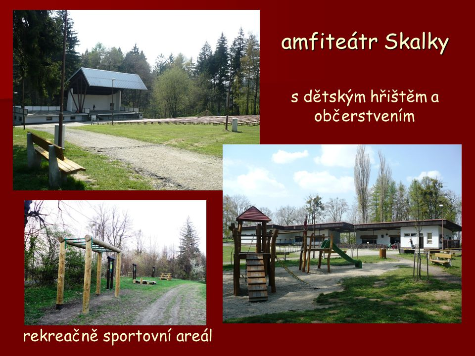 amfiteátr Skalky s dětským hřištěm a občerstvením