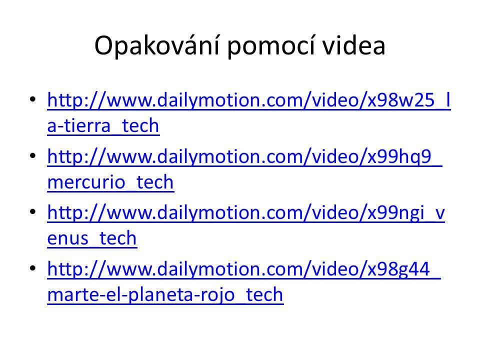 Opakování pomocí videa