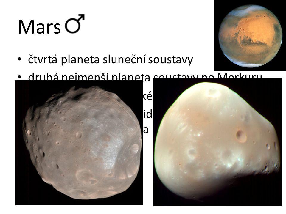 Mars čtvrtá planeta sluneční soustavy