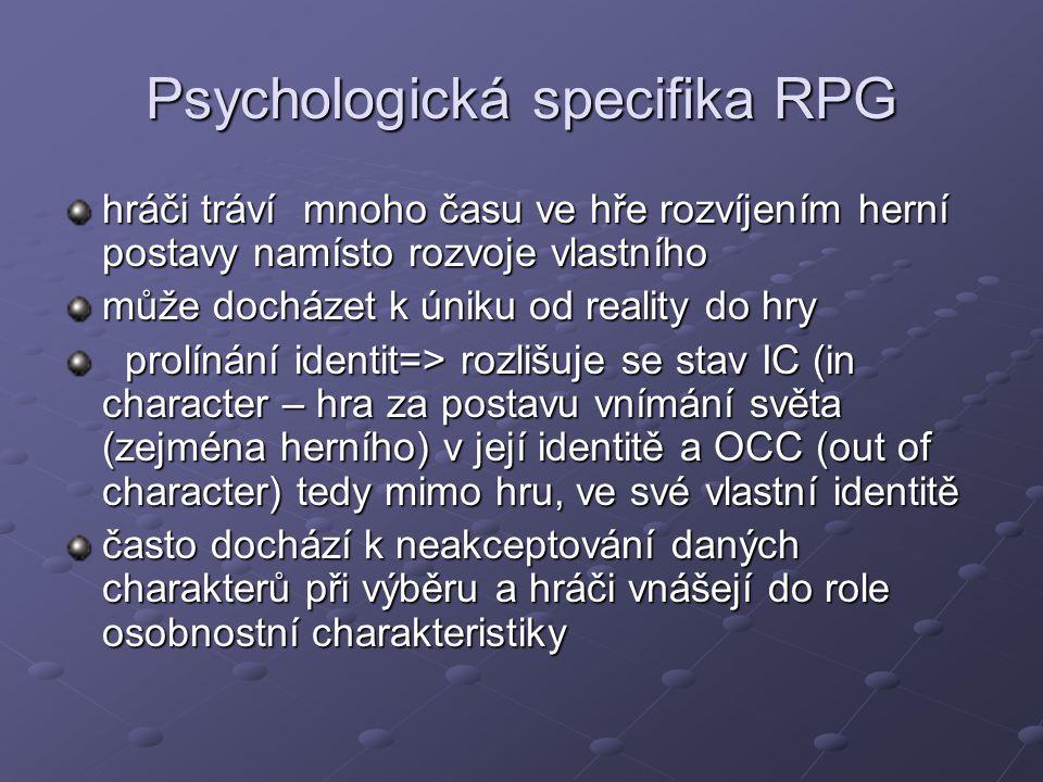 Psychologická specifika RPG