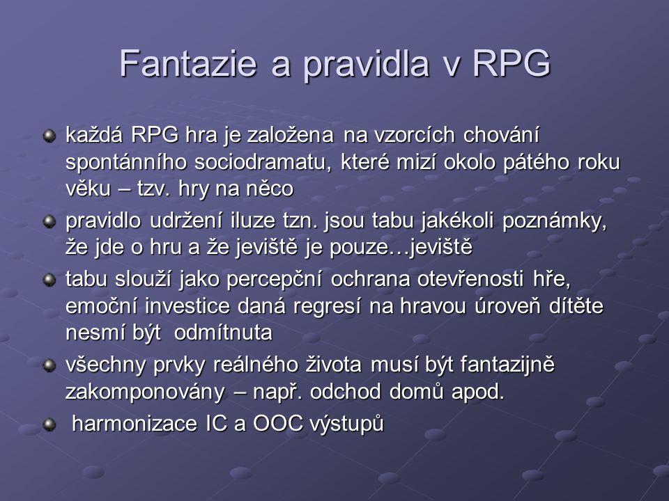 Fantazie a pravidla v RPG