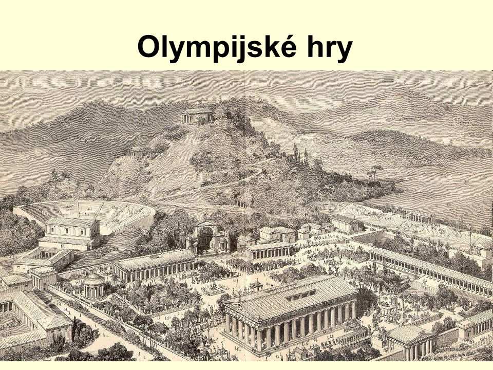 Olympijské hry r. 1896 byla obnovena tradice Pierrem de Coubertinem