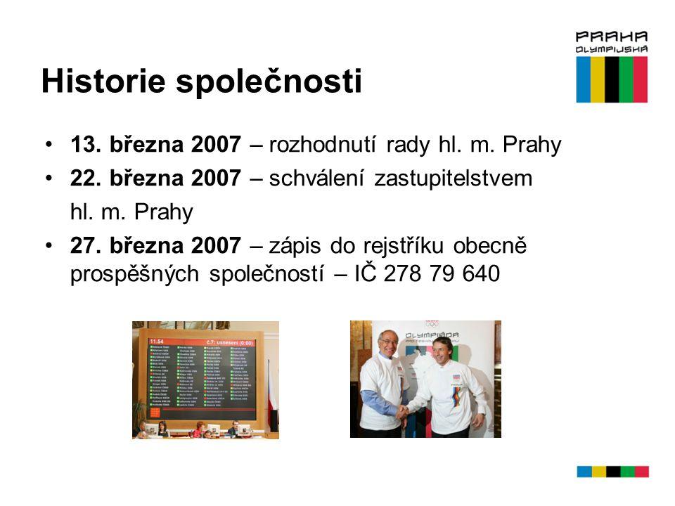 Historie společnosti 13. března 2007 – rozhodnutí rady hl. m. Prahy