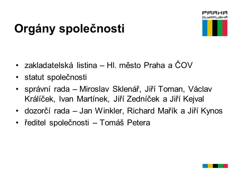 Orgány společnosti zakladatelská listina – Hl. město Praha a ČOV