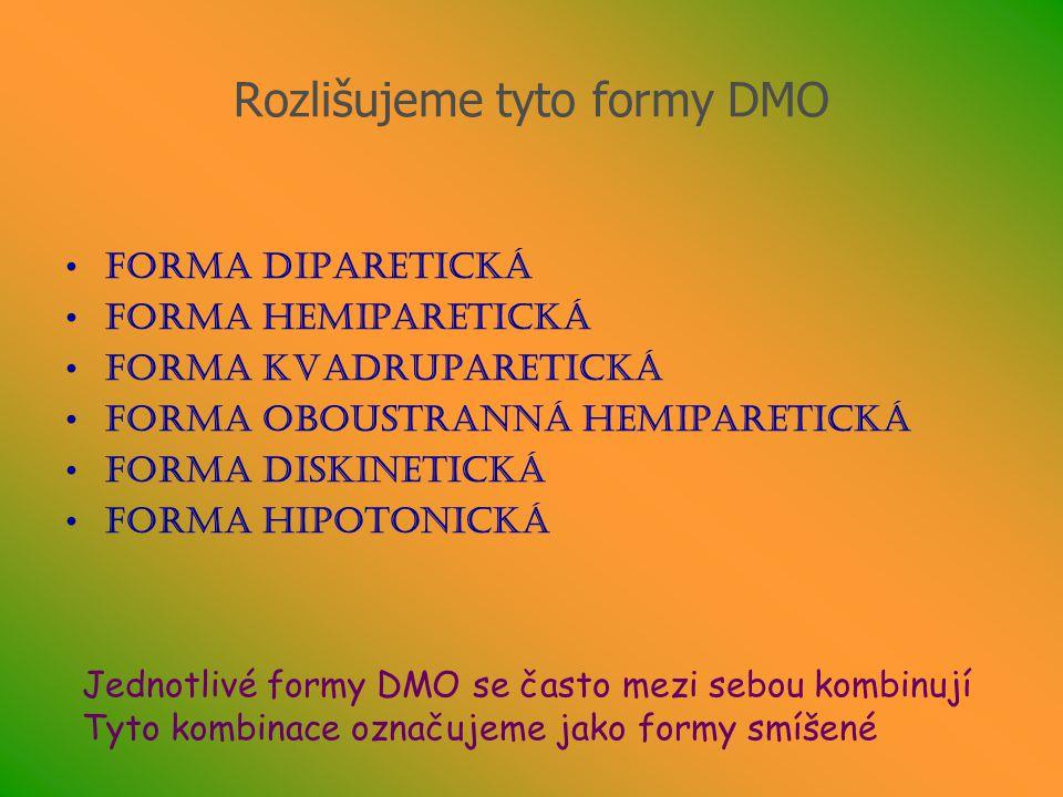 Rozlišujeme tyto formy DMO