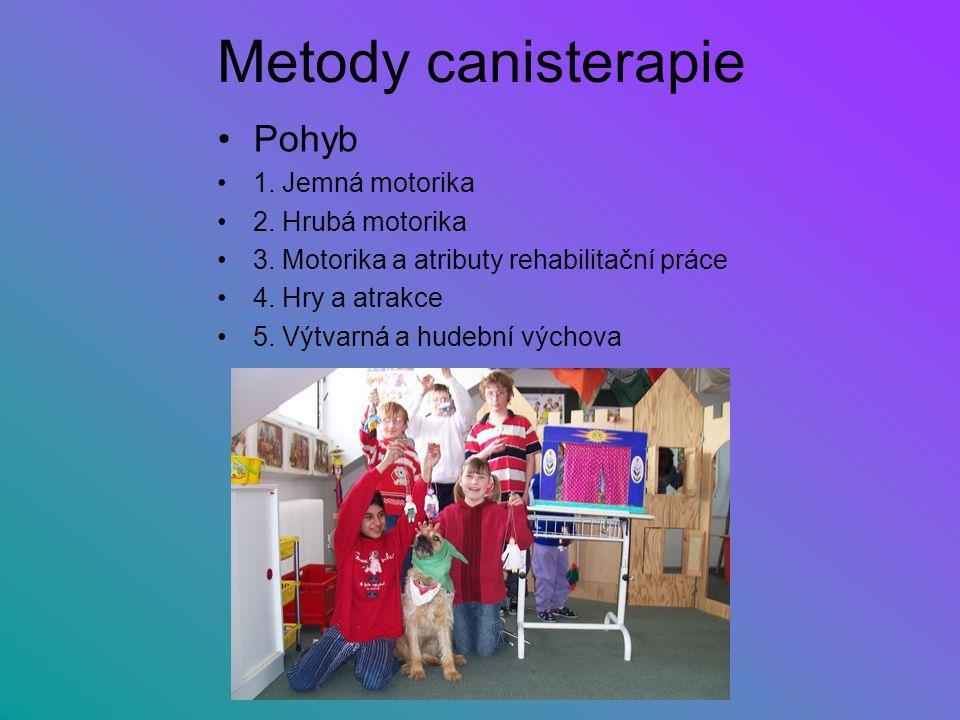 Metody canisterapie Pohyb 1. Jemná motorika 2. Hrubá motorika