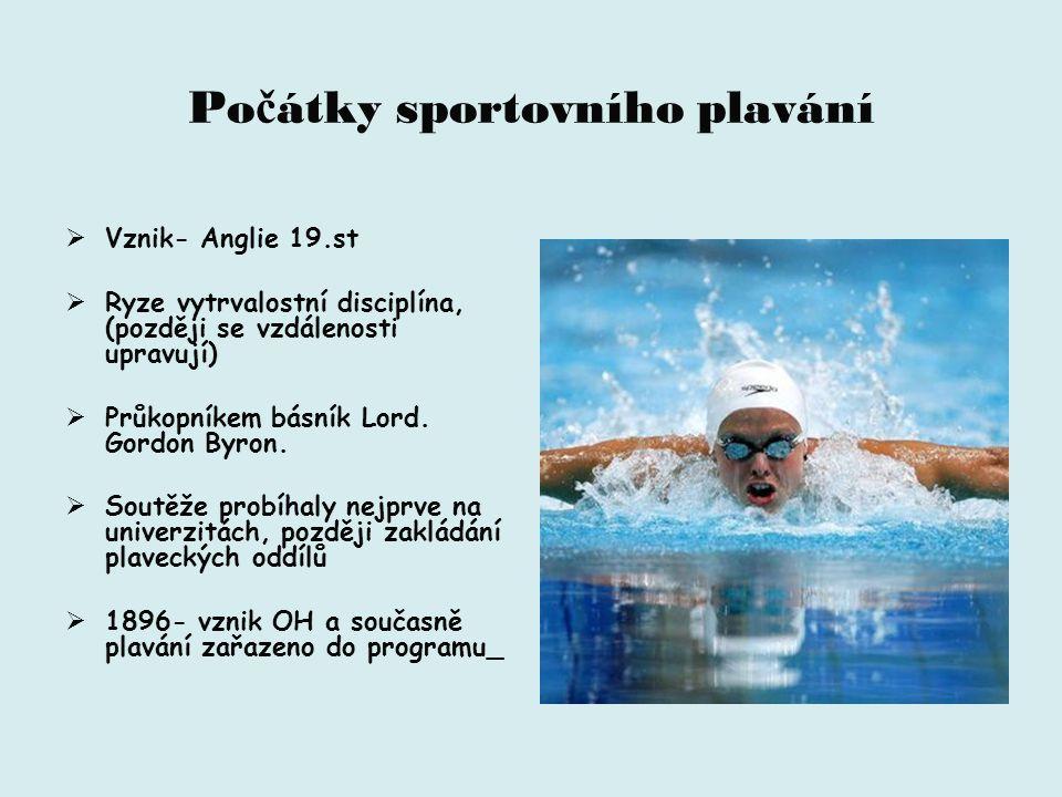 Počátky sportovního plavání