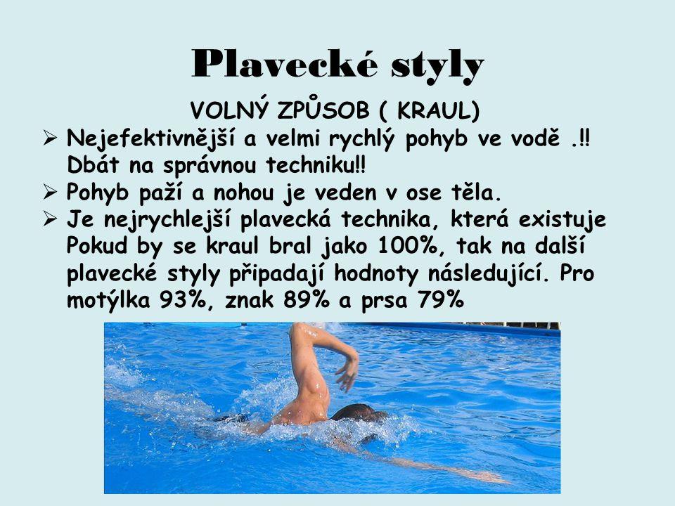 Plavecké styly VOLNÝ ZPŮSOB ( KRAUL)