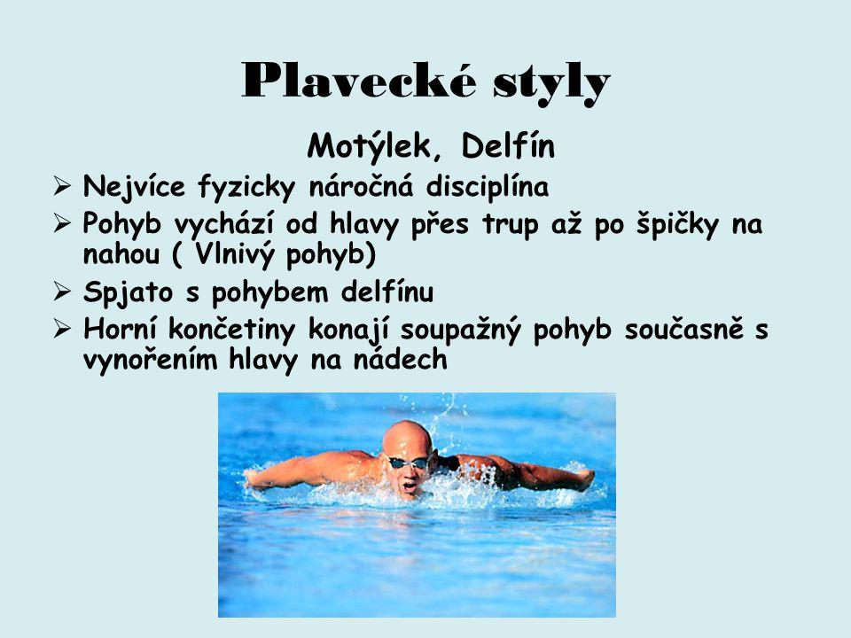 Plavecké styly Nejvíce fyzicky náročná disciplína