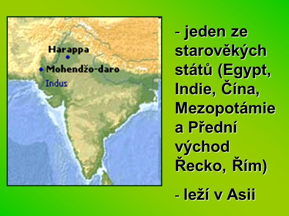 jeden ze starověkých států (Egypt, Indie, Čína, Mezopotámie a Přední východ Řecko, Řím)