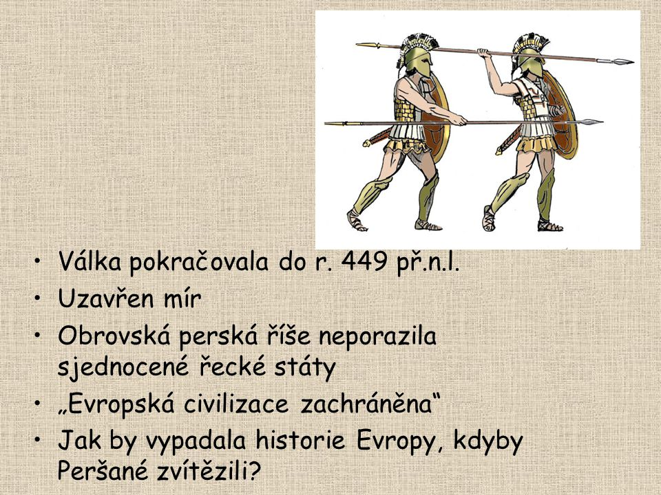 Válka pokračovala do r. 449 př.n.l.