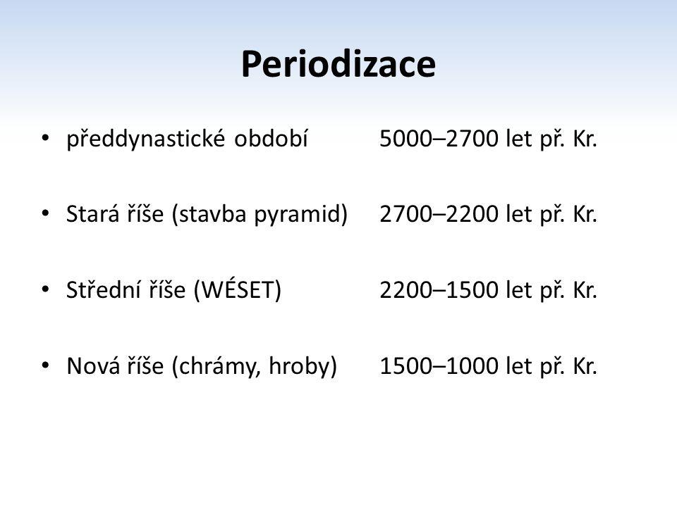 Periodizace předdynastické období 5000–2700 let př. Kr.