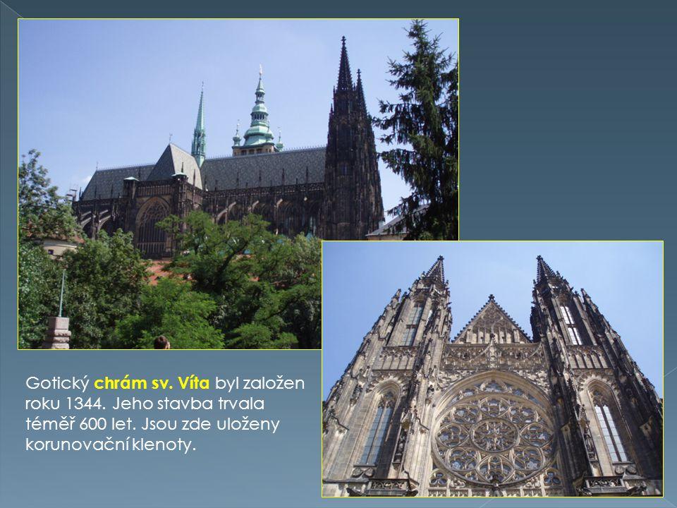 Gotický chrám sv. Víta byl založen