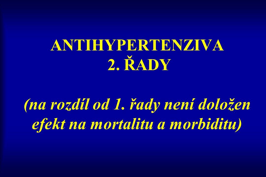 ANTIHYPERTENZIVA 2. ŘADY (na rozdíl od 1
