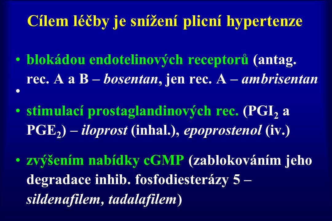 Cílem léčby je snížení plicní hypertenze
