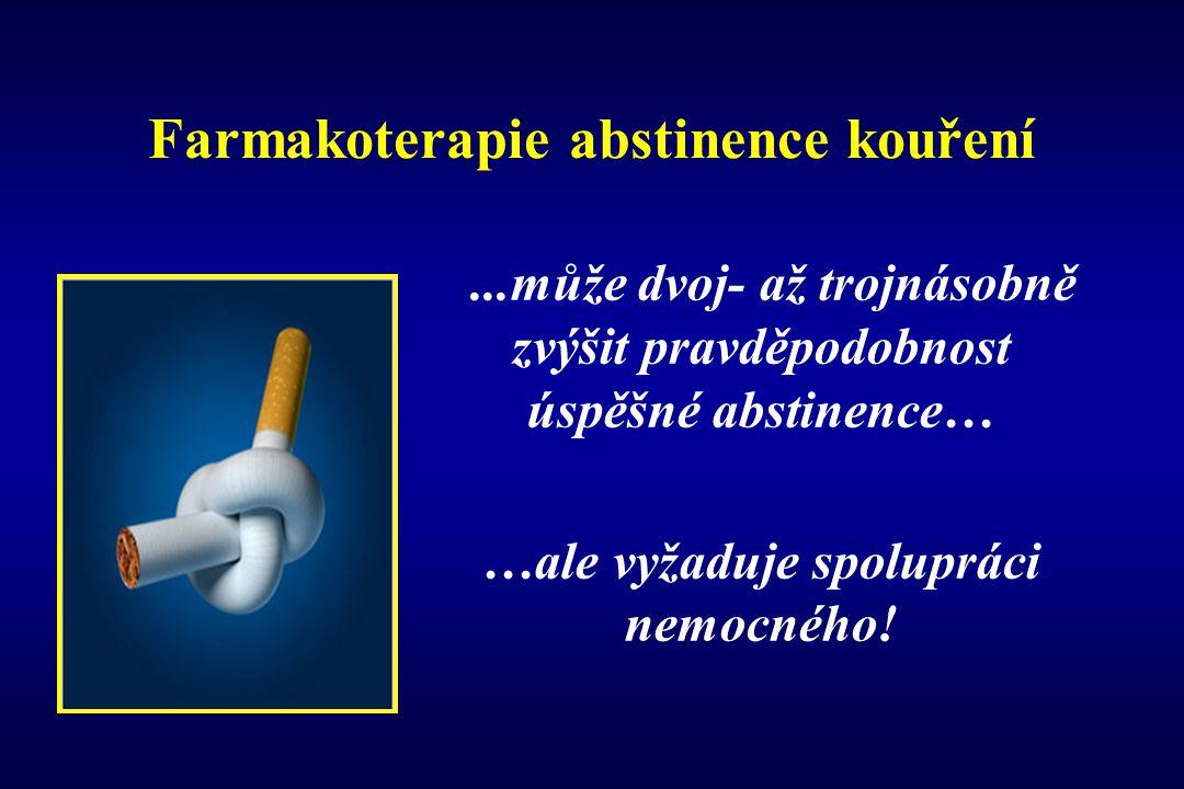 Farmakoterapie abstinence kouření