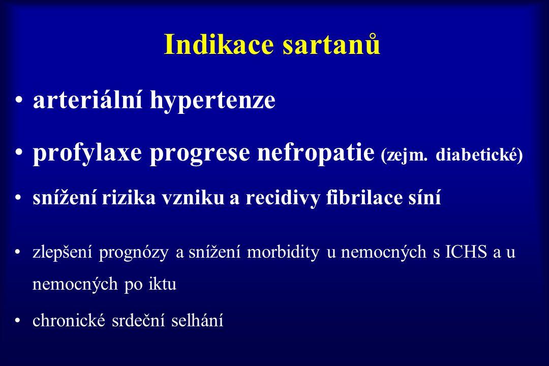 Indikace sartanů arteriální hypertenze