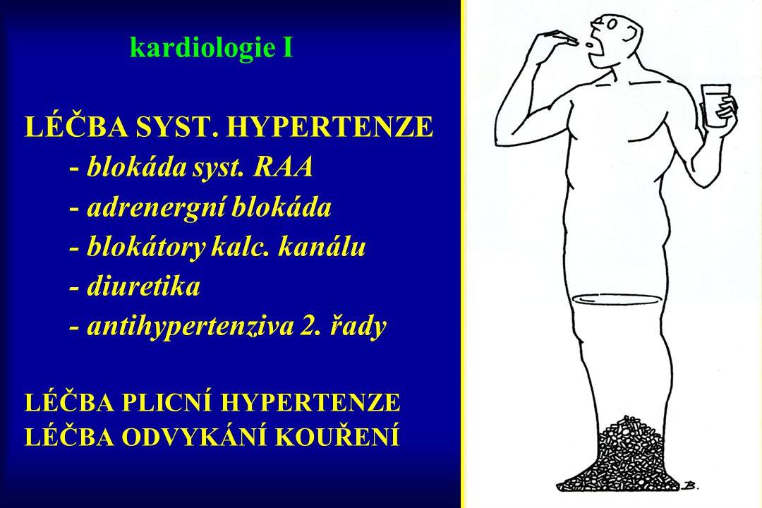 kardiologie I LÉČBA SYST. HYPERTENZE - blokáda syst