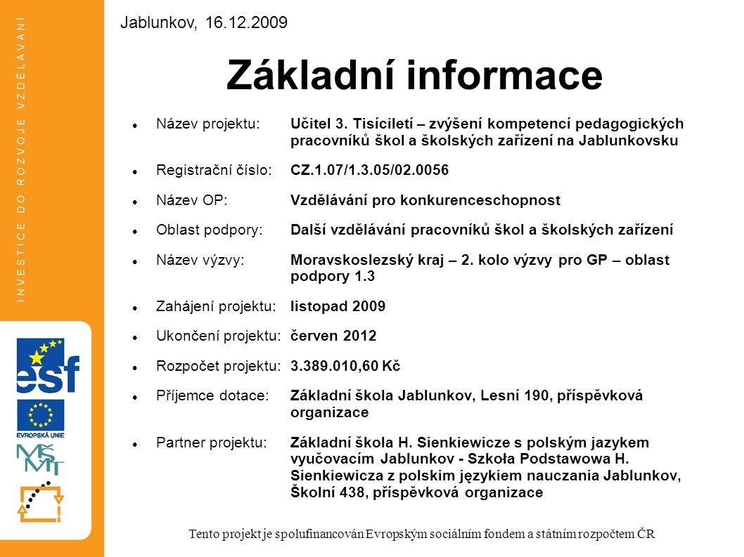 Základní informace Jablunkov, 16.12.2009