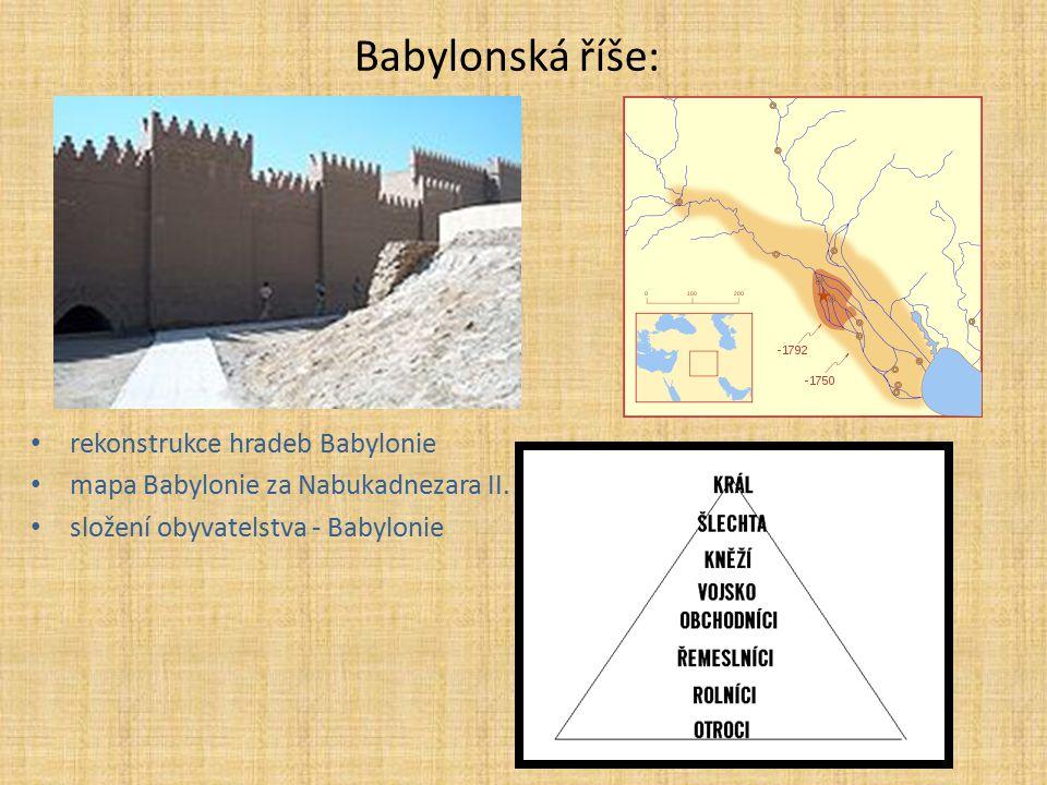Babylonská říše: rekonstrukce hradeb Babylonie
