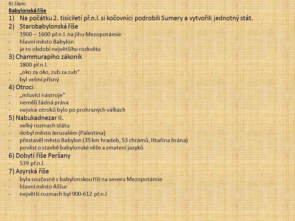 3) Chammurapiho zákoník
