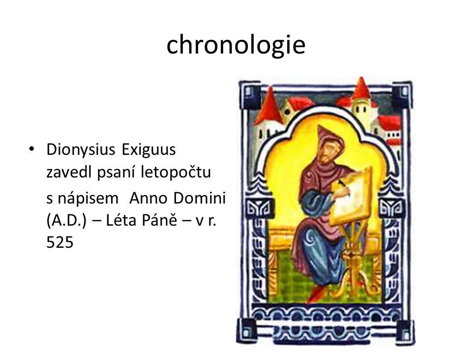 chronologie Dionysius Exiguus zavedl psaní letopočtu