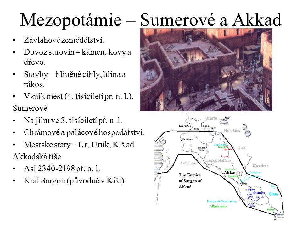 Mezopotámie – Sumerové a Akkad