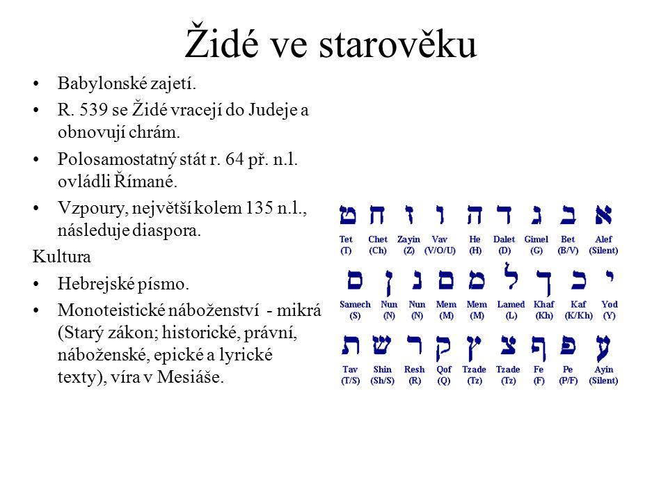 Židé ve starověku Babylonské zajetí.