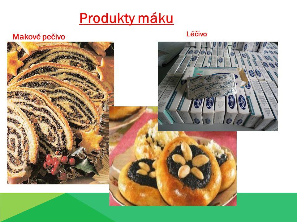 Produkty máku Léčivo Makové pečivo