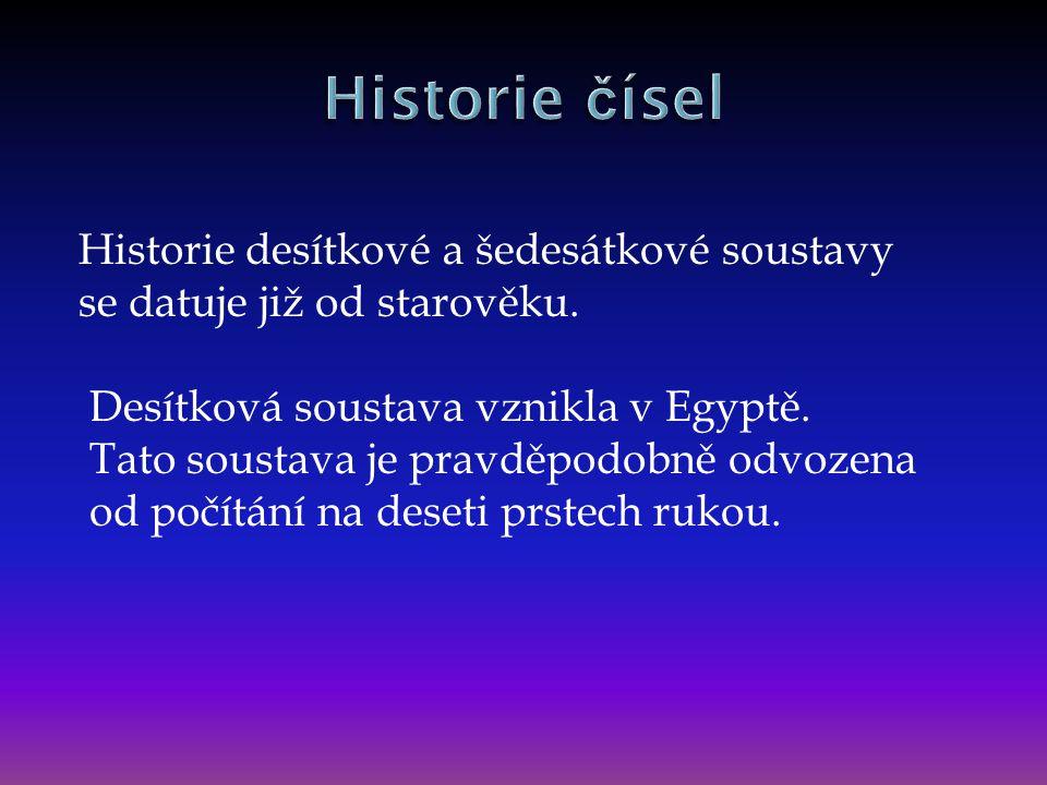 Historie čísel
