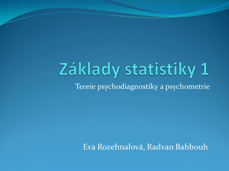 Teorie psychodiagnostiky a psychometrie