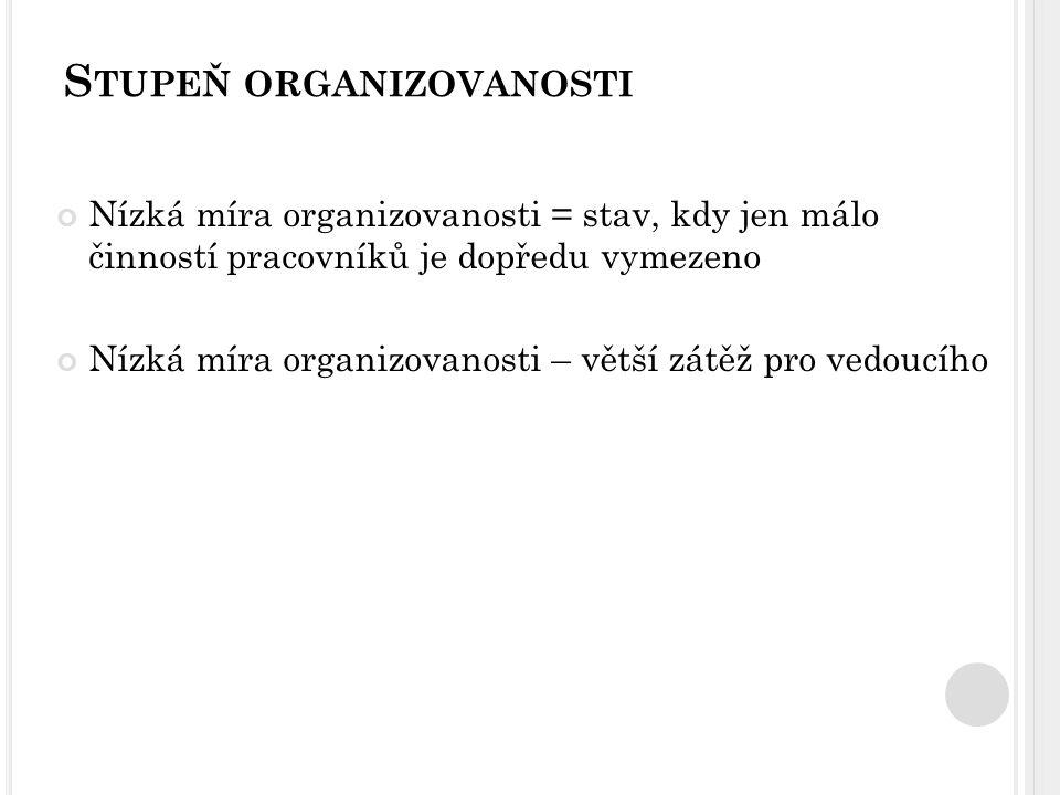 Stupeň organizovanosti