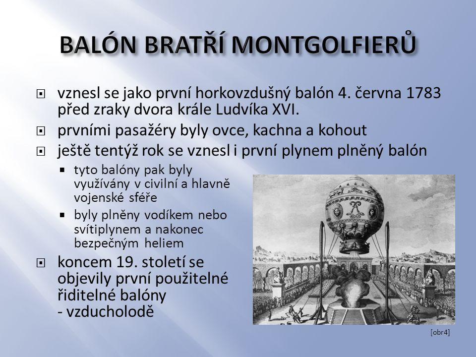 BALÓN BRATŘÍ MONTGOLFIERŮ