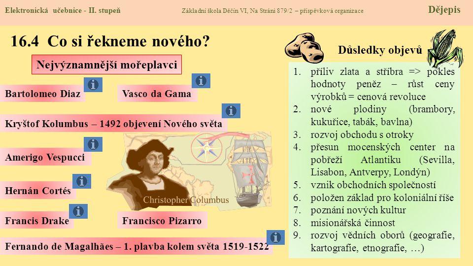 16.4 Co si řekneme nového Důsledky objevů Nejvýznamnější mořeplavci