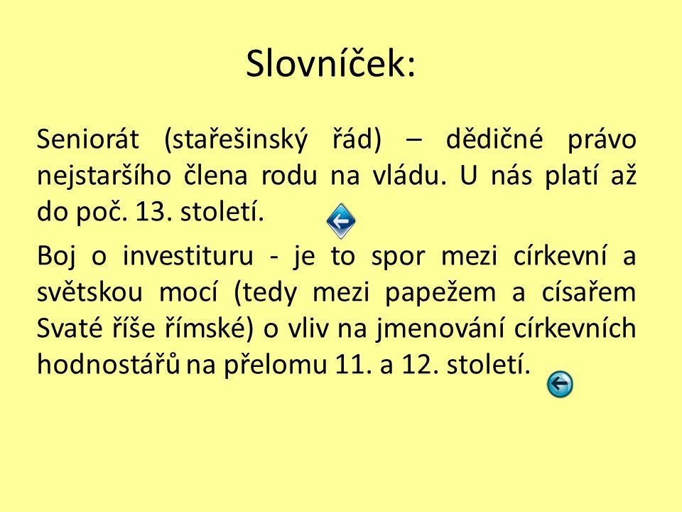 Slovníček:
